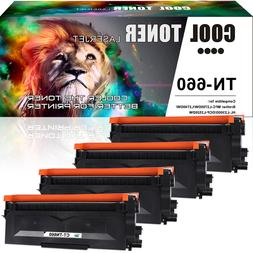 4PK Compatible for Brother TN660 TN630 Toner Cartridge MFC-L