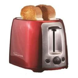 Brentwood 2 Slice Cool Touch Toaster; Red And Stainless Stee