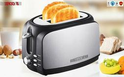 5 Core 2 Slice Extra Wide Centering Long Slot Toaster Stainl