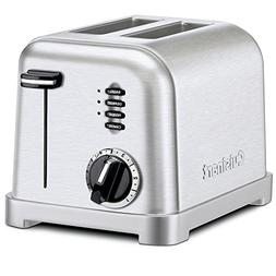 2 Slice Stainless Steel Toaster w/ Slide-Out Crumb Tray and