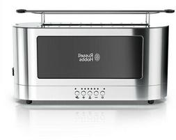 RUSSELL HOBBS 2-Slice Toaster Glass Accent Long Slot, Black