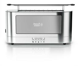 RUSSELL HOBBS 2-Slice Toaster Glass Accent Long Slot, Silver