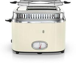 RUSSELL HOBBS 2-Slice Toaster Retro, Removable Crumb Tray, C