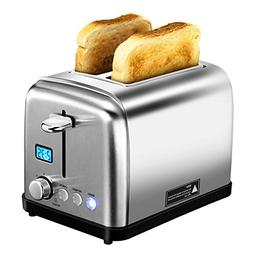 HoLife 2 Slice Toaster Stainless Steel with 6 Bread Shade Se