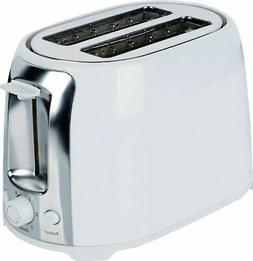 Brentwood 2-Slice Cool Touch Toaster, White and Stainless St