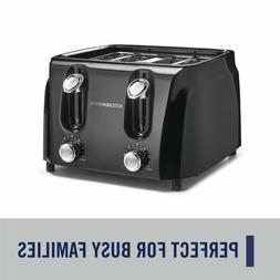 KitchenSmith 4 Slice Toaster 6 Browning Settings Extra Wide
