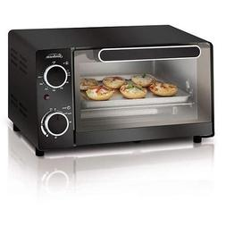 Sunbeam 4-Slice Toaster Oven, Black, Compact Size, Front Gla