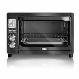 Bialetti  6-Slice Convection Toaster Oven, Black Stainless S