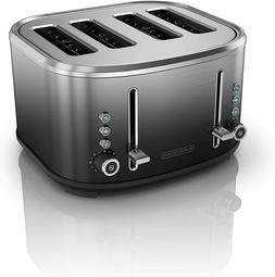 BLACK+DECKER 4-Slice Extra-Wide Slot Toaster, Stainless Stee