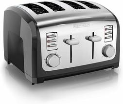 Toaster 4 Slice Extra Wide Slots 6 Toasting Shades Toaster S