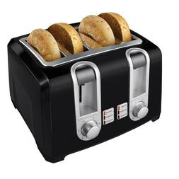 Black Decker Extra Lift 4-Slice Black Toaster