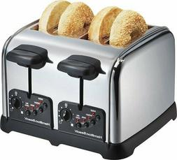 Hamilton Beach - Classic Chrome 4-Slice Wide-Slot Toaster -