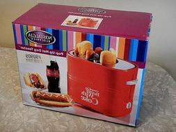 Coca Cola Pop Up Electric Home Kitchen Hot Dog + Buns Toaste