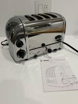Dualit Dark Gray and Stainless Steel 4 Slice Toaster 47154 E