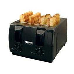 Better Chef Im-242B 4 Slice Dual-Control Black Toaster