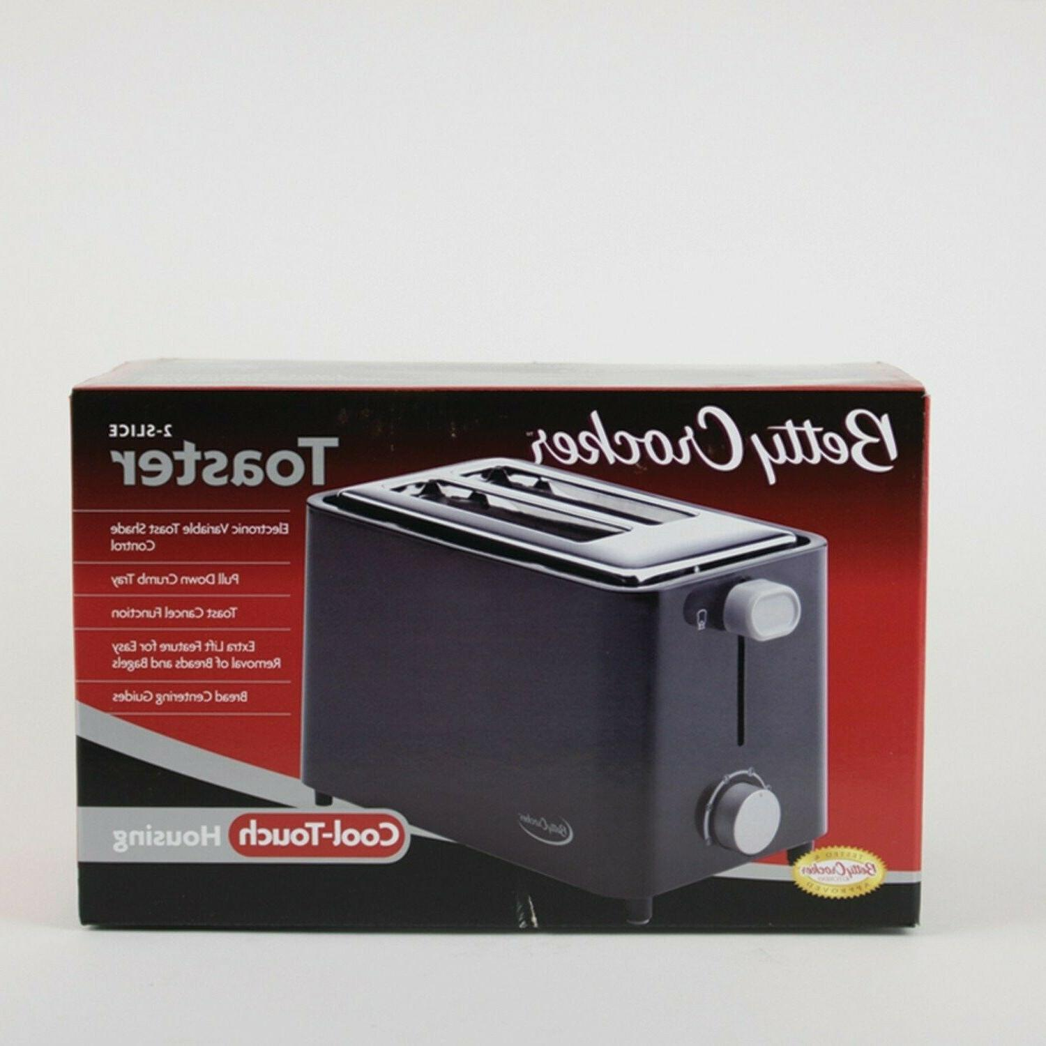 2 Toaster Stainless Steel Bread Compact
