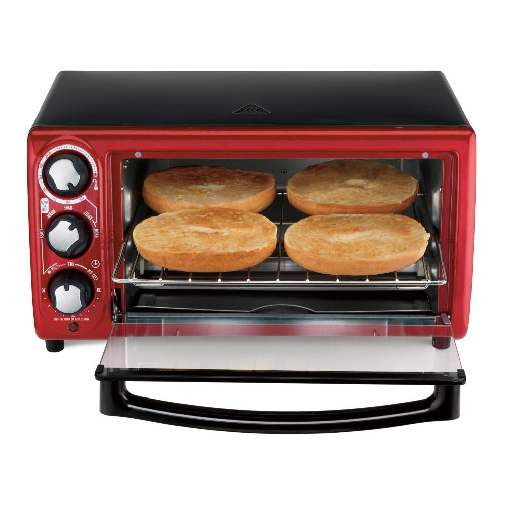 Hamilton Beach Red Toaster with Cooking Settings, Model