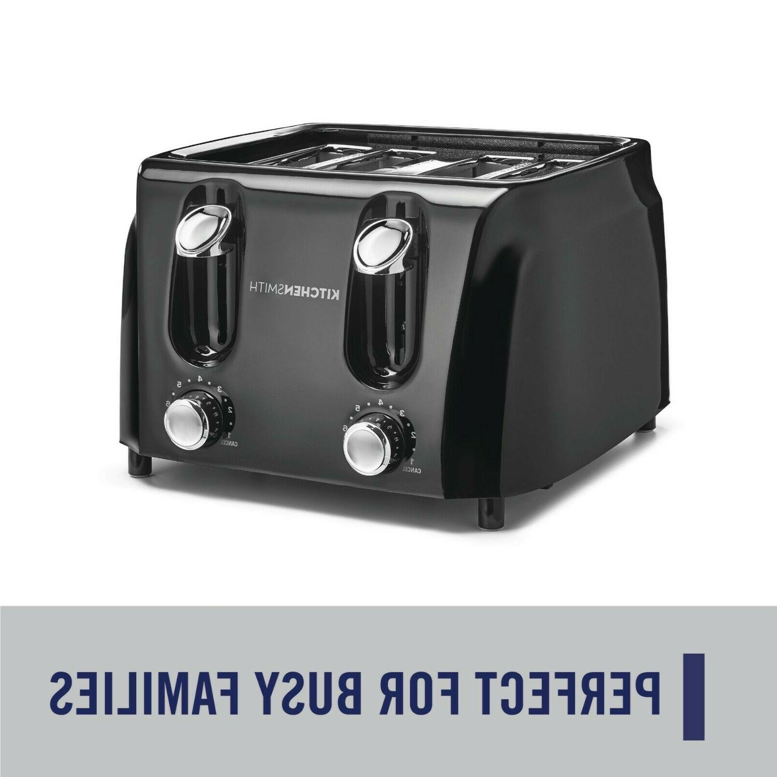 KitchenSmith 6 Browning Settings Extra Wide Slots, Black - New
