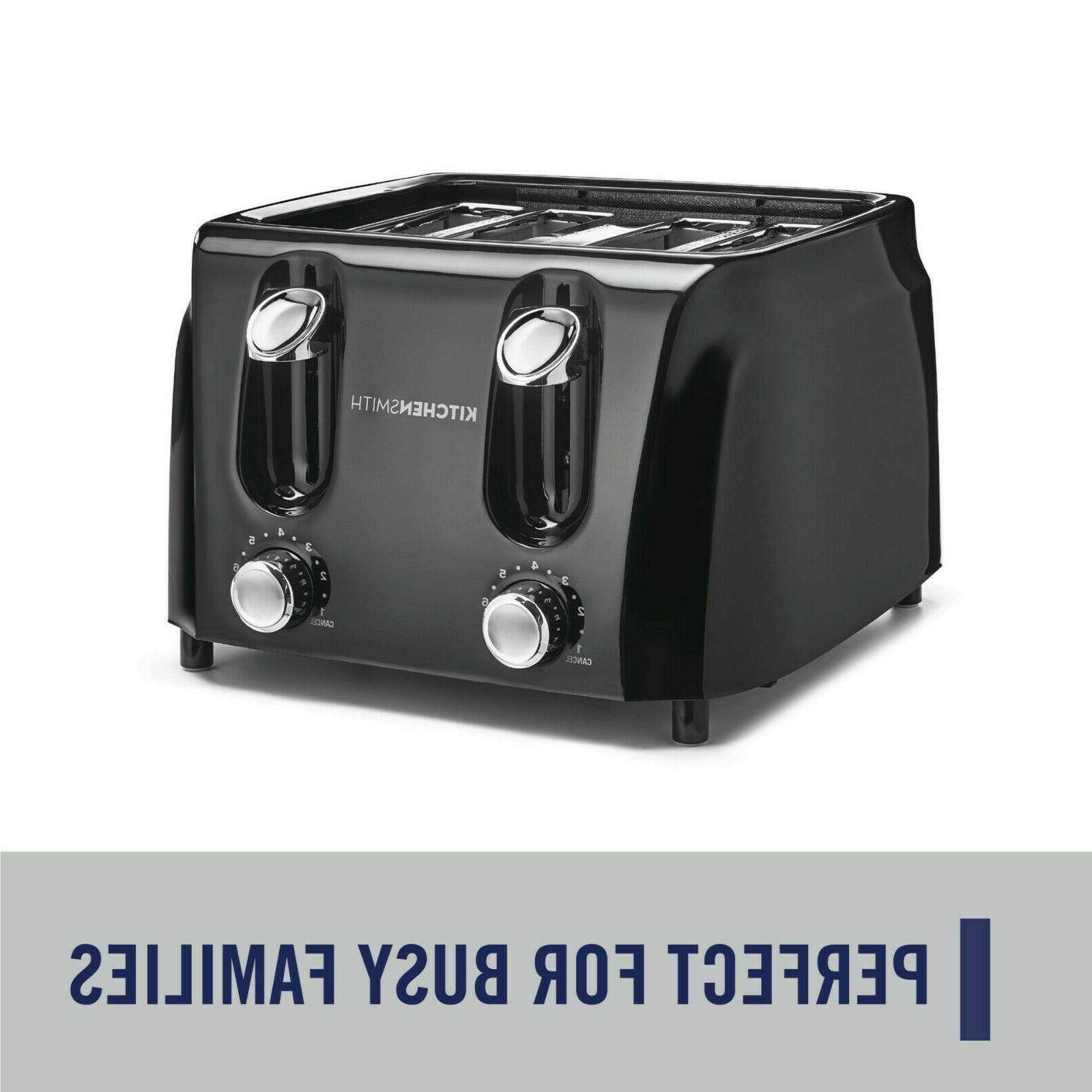 4 slice toaster 6 browning settings extra