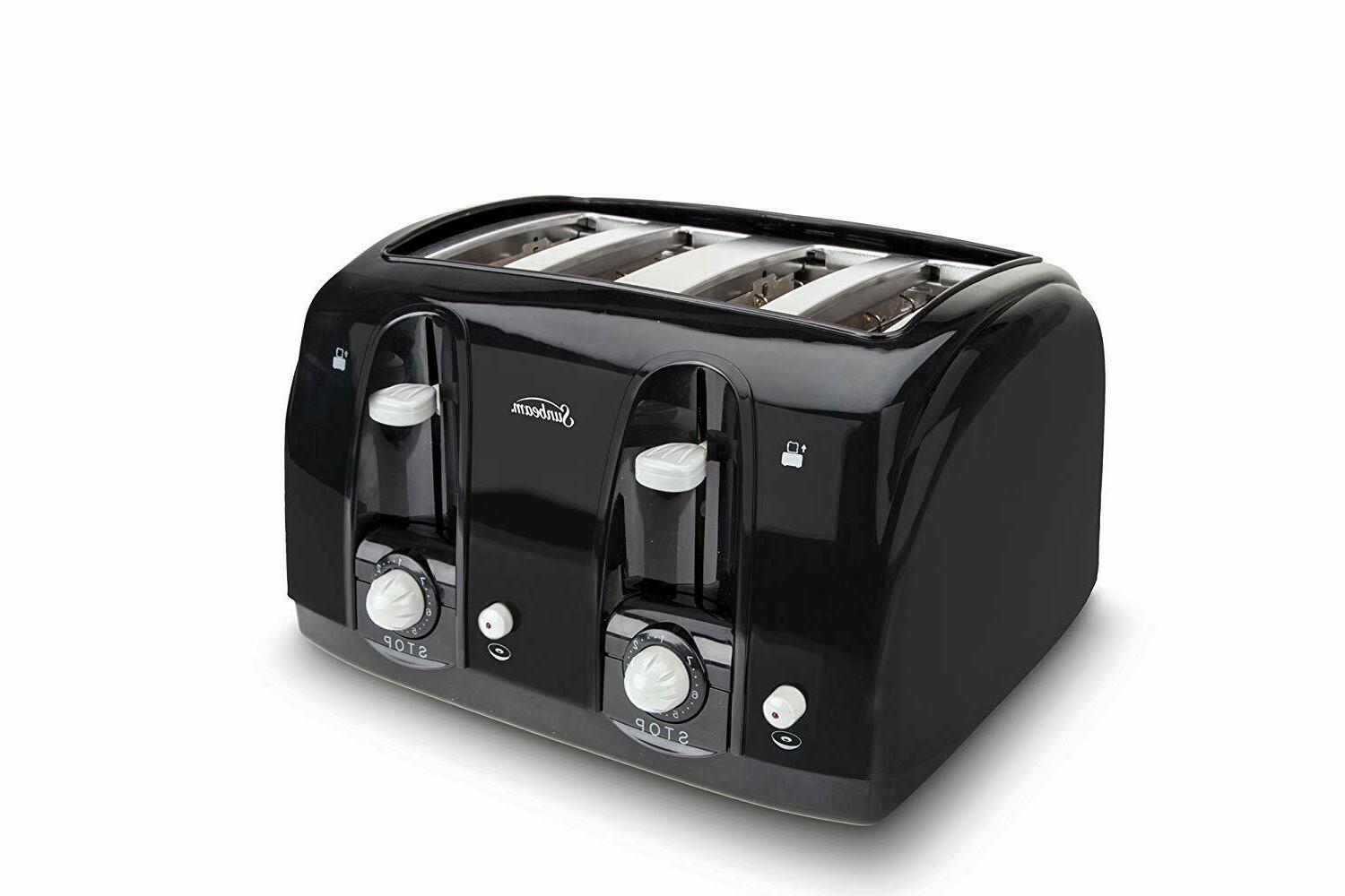 Extra Wide Slot Sleek modern 4 Slice Toaster Complement Any