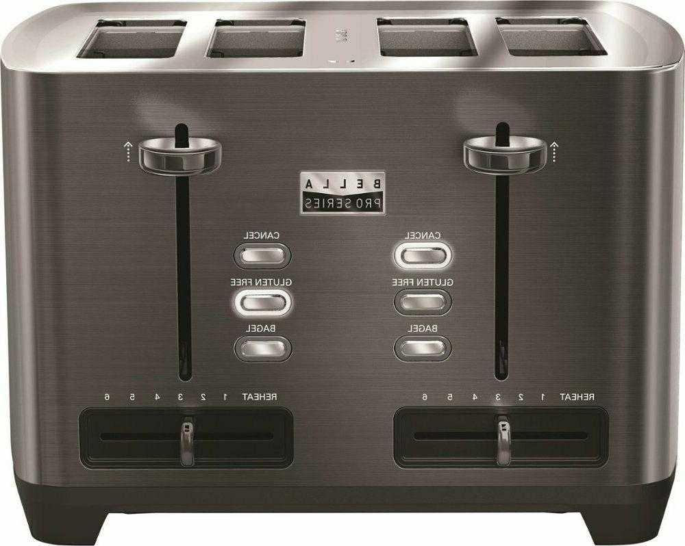 Toaster Pro Extra Slot Stainless Steel