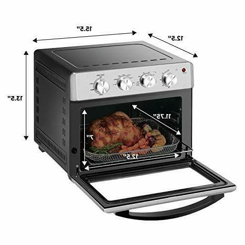 Chefman Air Toaster Oven, 6 Slice, QT Convection AirFryer w/ Auto