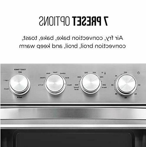 Chefman Toaster Oven, QT Convection AirFryer w/ Auto Black