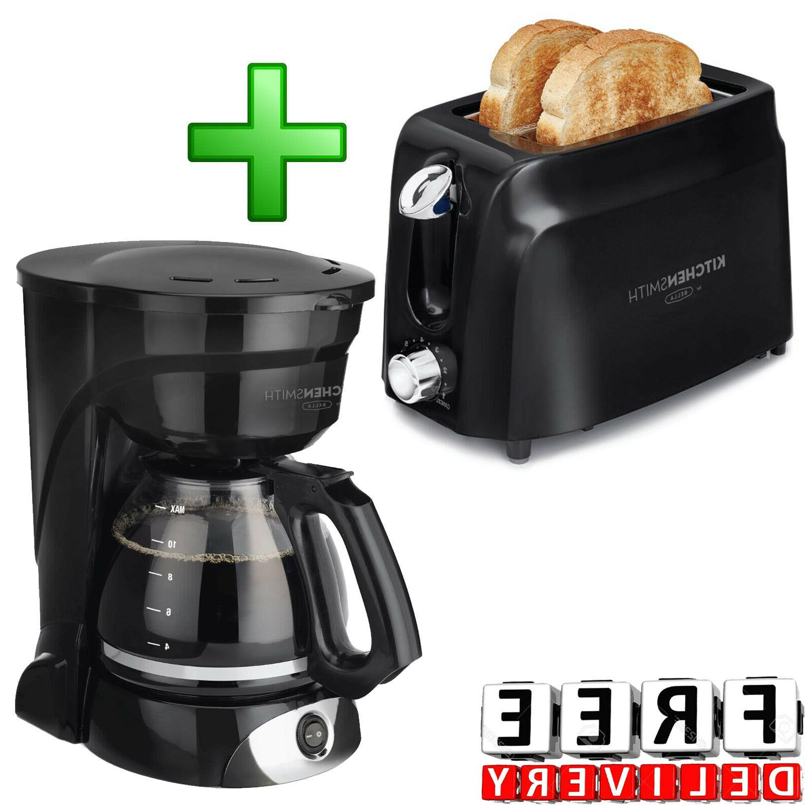 Coffee Maker 12 Cup Plus 2 Slice Toaster Kitchen Appliances