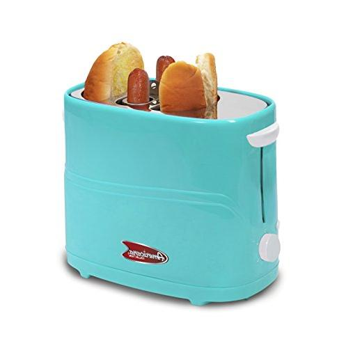 Americana By Elite ECT-542BL Retro Pop-Up Hot Dog Toaster Co