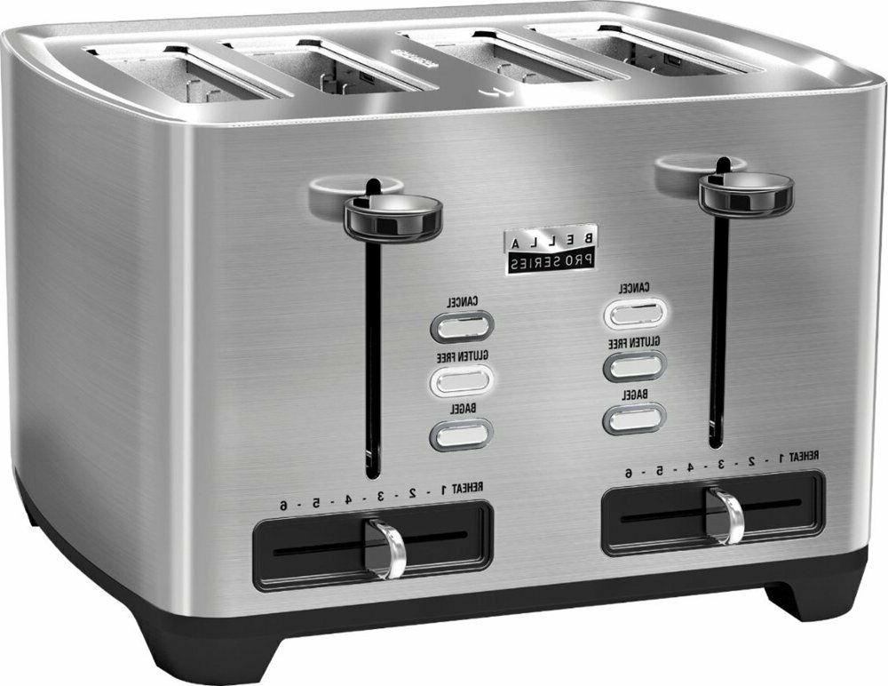 Bella 4-Slice Wide-Slot Stainless NEW