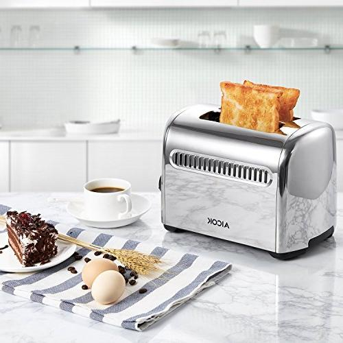 Toaster, Stainless with Bagel, Extra-Wide Slots, Control,