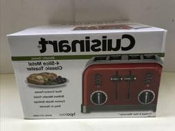 Cuisinart Metallic Red Classic Metal 4-Slice Toaster