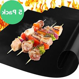 Vremi Grill Mat - Set of 5 Heavy Duty Non Stick and Reusable