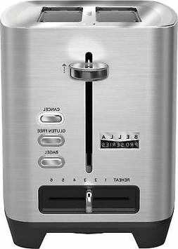 Bella - Pro Series 2-Slice Extra-Wide-Slot Toaster - Stainle