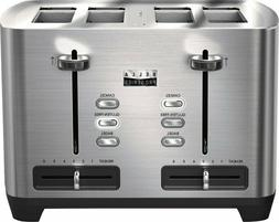 Bella - Pro Series 4-Slice Wide-Slot Toaster - Stainless Ste