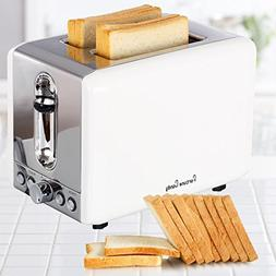 SVVSS Stainless Steel 2 Slice Toaster with Extra-Wide Slot D