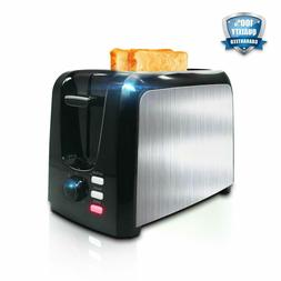 Toaster 2 Slice │ Toasters Toast Perfectly│Stainless Ste