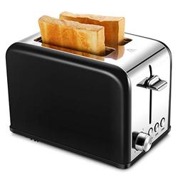 Toaster 2 Slice, Small Wide Slot Black Toasters Two Slice, S