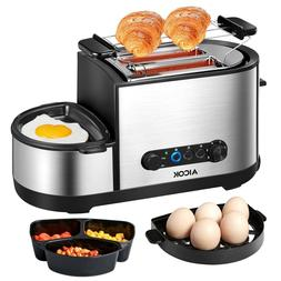 Aicok Toaster, 5-en-1 Multifunctional Toaster Automatic with