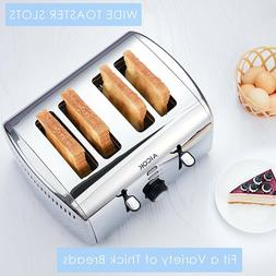 Toaster Of Stainless Steel Aicok 4 Slots With 7 Controls Of