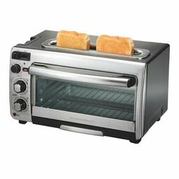 2-In-1 Oven And Toaster Combo Kitchen Dorm Space Saving Coun
