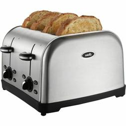 Oster TSSTTRWF4S 4-Slice Toaster - Brushed Stainless Steel